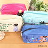 Large Capacity Stationery Bags, Cute Cat Simple Pencil Case Makeup Bags