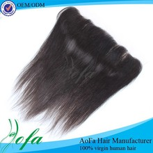 Unprocesed 100% Human Hair Cheap Full Lace Frontal Closures Size 13X4