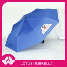 8k azul de dibujos animados japoneses 3 veces paraguas de los niños