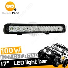 High Performance 17 Inch 100w Single Row Offroad Bar Light