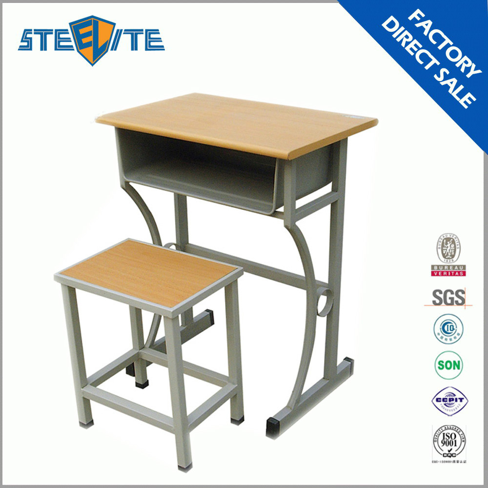 factory price steel school furniture adult study table