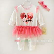S60552A Infant Romper long sleeve baby clothes 100% cotton
