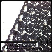 100%Cotton Heavy Chemical Lace Fabric Design with edge