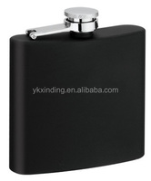 7oz customized novelty silk printing hip flask / water label printing hip flask with full color printed logo