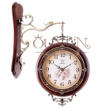 Wholesale Home Decor Items Antique Brown Small Decorative Wall Clocks