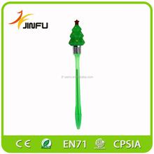 Christmas promotional gift flashing light fancy novelty ballpens types