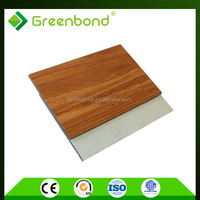 Greenbond wood pattern aluminum composite panel attractive price in india