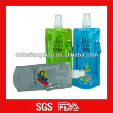 Foldable BPA free water bottle with carabier