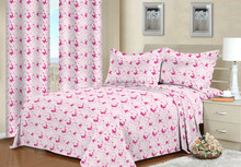 2016 Hot sale butterfly design bed sheet & curtain with 100%polyester
