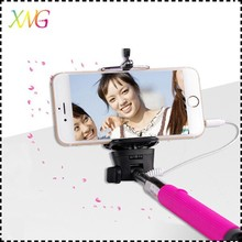 2015 new aluminum extendable hand held monopod selfie stick with 3.5mm jack cable