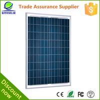 High quality and cheap price 75 watt micro USB Poly solar panel kit