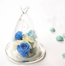 Cover birdie rose design glass vase
