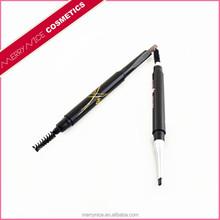 Waterproof eyebrow pencil double-end retractable eye brow pencil and lash brush