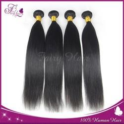 Real 6A hair 100% virgin India human hair Straight hair weave bundles braided hippie cute girl