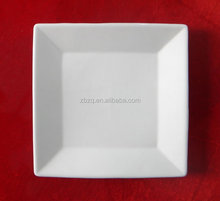 white porcelain square plate for restaurants&hotel ,ceramic square plate