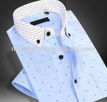 Latest custom mens shirts multi colors oxford polka dots man shirt