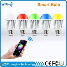 Full colors wifi light bulb adapter smart control led wifi bulb