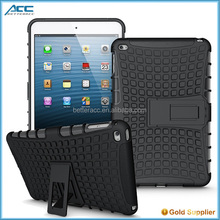 alibaba express 2015 new products, plastic and TPU tablet case with stander for iPad mini 4