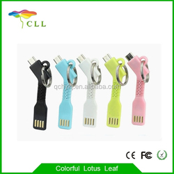 Wholesale Micro USB Keychain Charger Data Cable Mini USB Charger for Cell Phone
