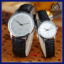 Hot sell couple leather strap watches as lovers gift