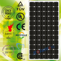 190W high quality black daylight solar panel made in china with TUV.UL