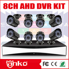 New Product 8CH ahd dvr kit cctv with 8 Bullet AHD cameras