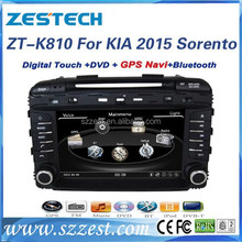 ZESTECH factory 8 inch double din Autoradio with GPS for KIA SORENTO 2015 car parts with car gps receiver