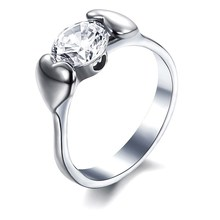 Wholesale jewelry ring gift for girlfriend fashion popular crystal ring