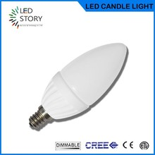 Light emitting diode candle bulb