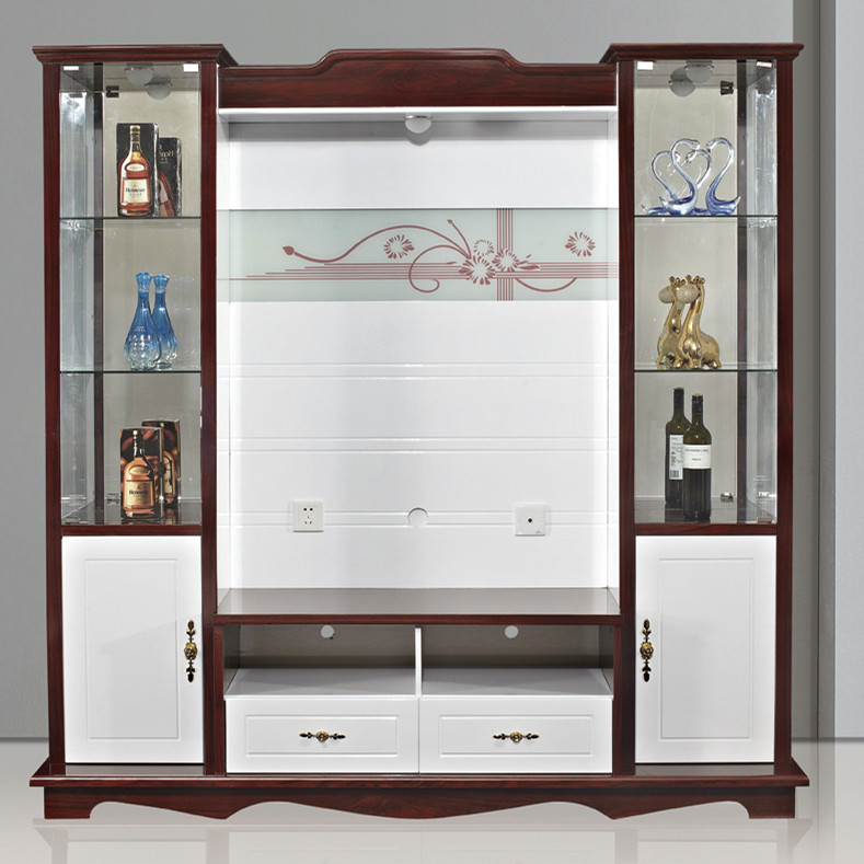 Shx Modern Corner Tv Cabinet With Showcase Tv Lcd Wooden Cabinet ...