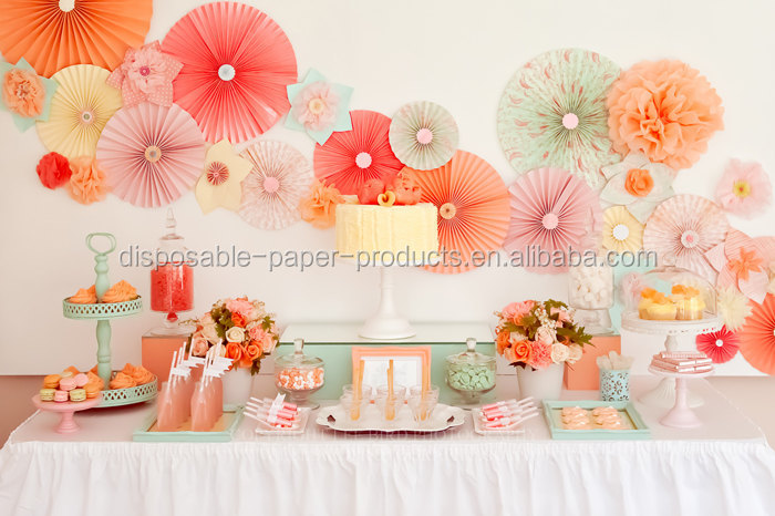 party wall fan hanging decorations wedding decoration baby shower