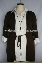 camisa de cuello collar de decoración para blusa de media de edad de las mujeres
