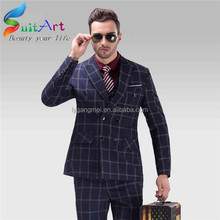 2015 new design leisure suits 100% cotton slim fit suit for men