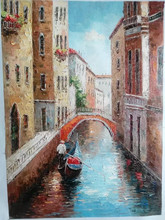 Hand-painted oil painting scenery interior decoration art size free combination more hang a picture