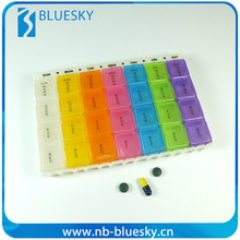 Colorful 28 Case 7 Day Plastic Japanese Pill Box