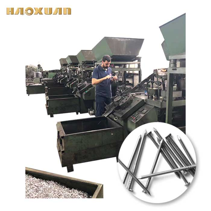 Wafios fio de aço telhados de ferro do prego que faz a máquina automática