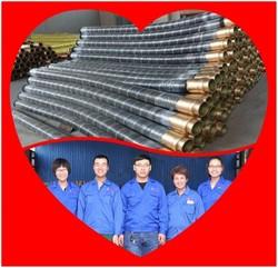 150 Psi Asphalt Suction Rubber Hose Cement / Concrete / Plaster Rubber Hose