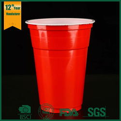 drinking mug/cup,red plasic water cup,red cups party