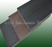 Grooved and wood grain wood plastic composite WPC exterior decking/WPC outdoor floor