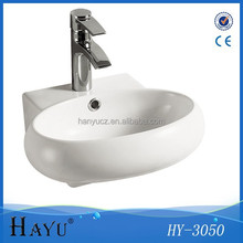 HY3050 Wall hung ceramic bathroom lavabo art basin
