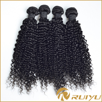 Beauty products no tangle no shedding machine weft remy cambodian kinky curly hair weaves