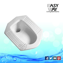High quality washdown public wc skid resistance ceramic squating pan