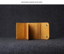 vegetable tan ostrich leather purse muliti-purpose pocket, tri-fold wallet