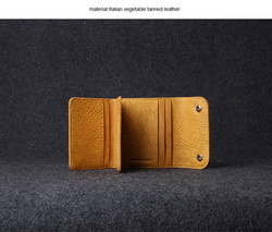vegetable tan ostrich leather purse muliti-purpose pocket, tri-fold wallet
