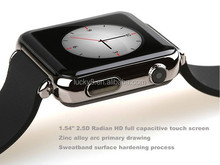 1.54 inch Wirstband TF card slot and SIM card slot Bluetooth men wrist watch with camera 1.3MP