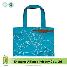Beard Shape Blue Fashional Polyester Fabric Shopping Bag With Logo