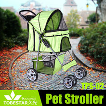 Double Pet Stroller Small Dog Cat Print Folding Jogger Dual Carrier