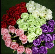 cheap bouquet wedding real touch Wedding/home decoration Wholesale artificial silk rose flower