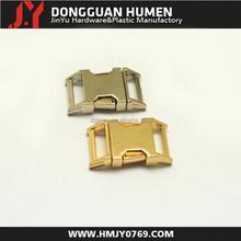 Dgjinyu Jinyu metal side release buckle , 5/8 curved gold metal buckle for pet collars