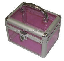 custom aluminum cosmetic case and box/acrylic cosmetic case/makeup case with lighted mirror OEM is welcomed